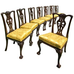 Eight Chippendale Side Chairs