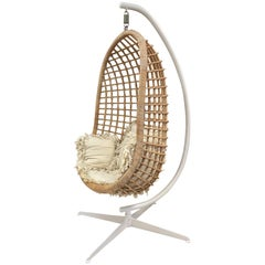 1960s Rattan Swing Chair