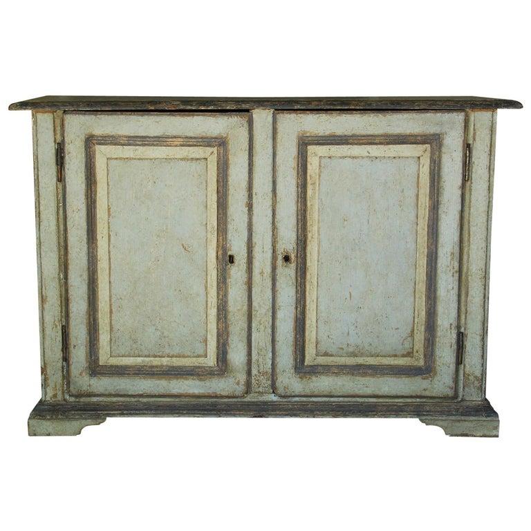 19th Century Italian Abruzzo Two-Door Buffet in Original Paint