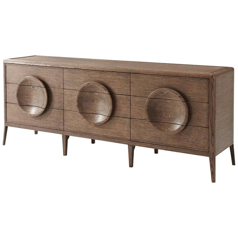 Mid Century Modern Oak Dresser For