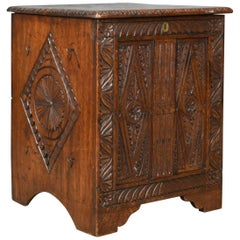 Antique Coffer English Oak Chest Victorian in Jacobean Taste, circa 1880