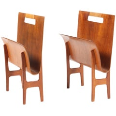 Pair of Magazine Stands by Bender Madsen
