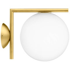 FLOS IC 1 Ceiling & Wall Light in Brass by Michael Anastassiades