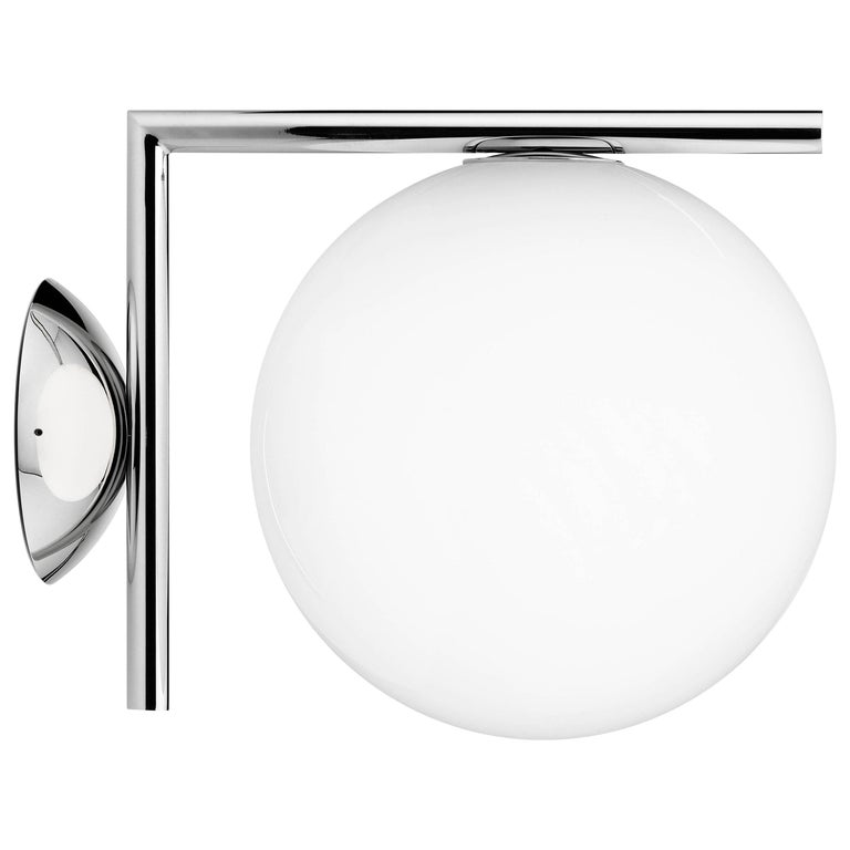 FLOS IC 1 Ceiling and Wall Light in Chrome by Michael Anastassiades