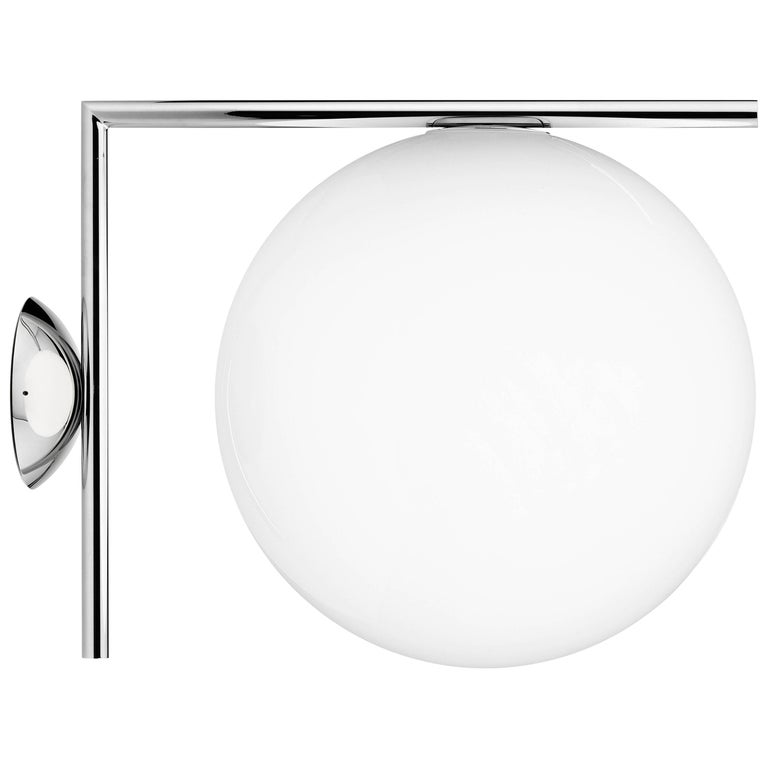 FLOS IC 2 Ceiling and Wall Light in Chrome by Michael Anastassiades