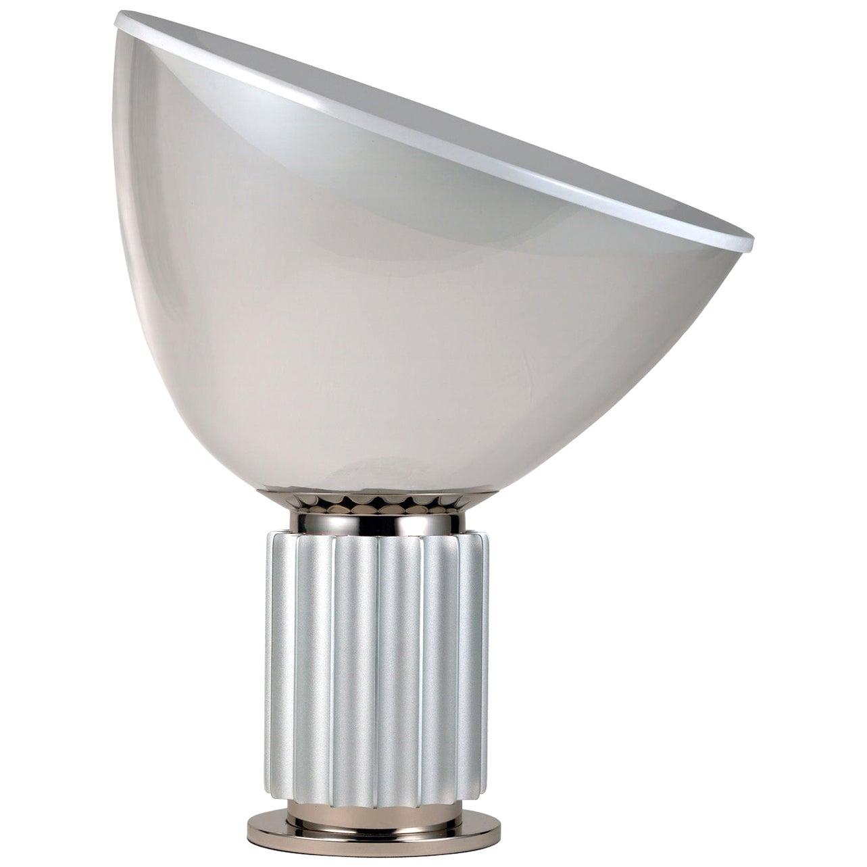 FLOS Taccia Led Lamp in Silver by Achille & Pier Giacomo Castiglioni