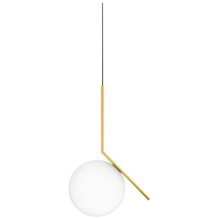 FLOS IC Lights S2 Pendant Light in Brass by Michael Anastassiades
