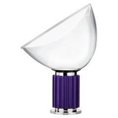 Flos Taccia Small Table Lamp in Violet by Achille & Pier Giacomo Castiglioni