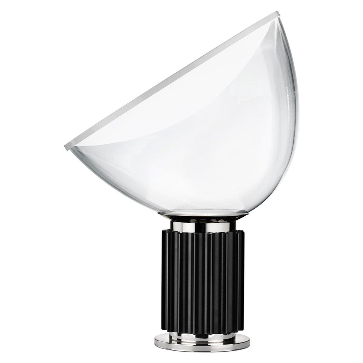 FLOS Taccia Small Table Lamp in Black by Achille & Pier Giacomo Castiglioni