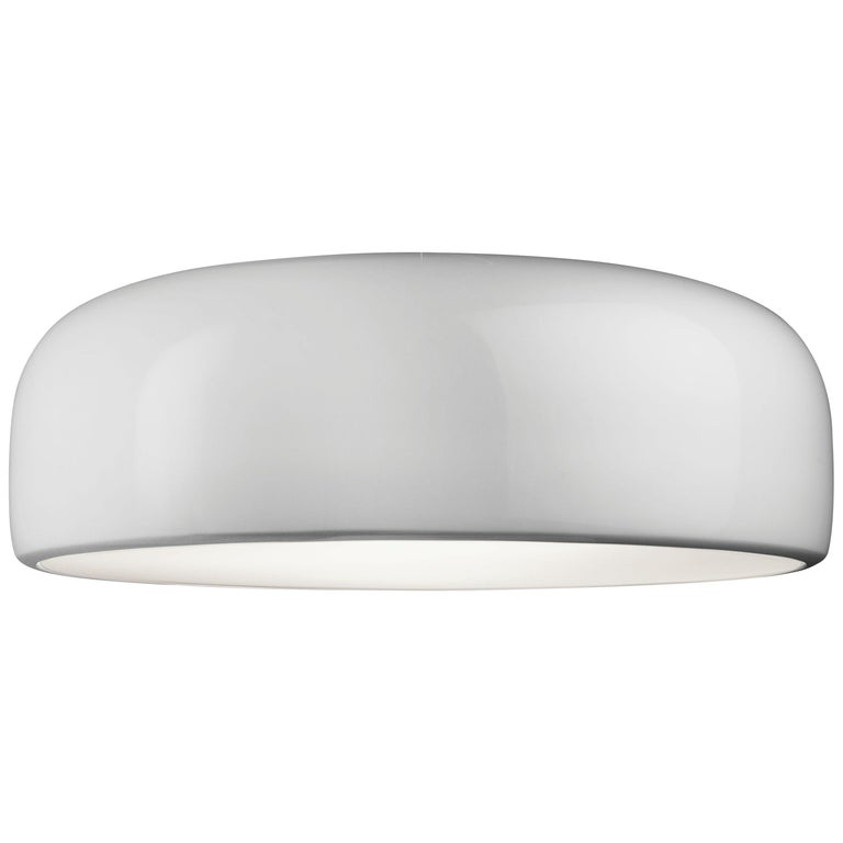 FLOS Smithfield S Dimmable Fluorescent Pendant Light in White by ...