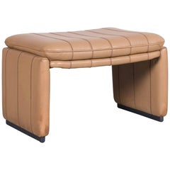 De Sede DS Leather Foot-Stool Cognac Brown Bench