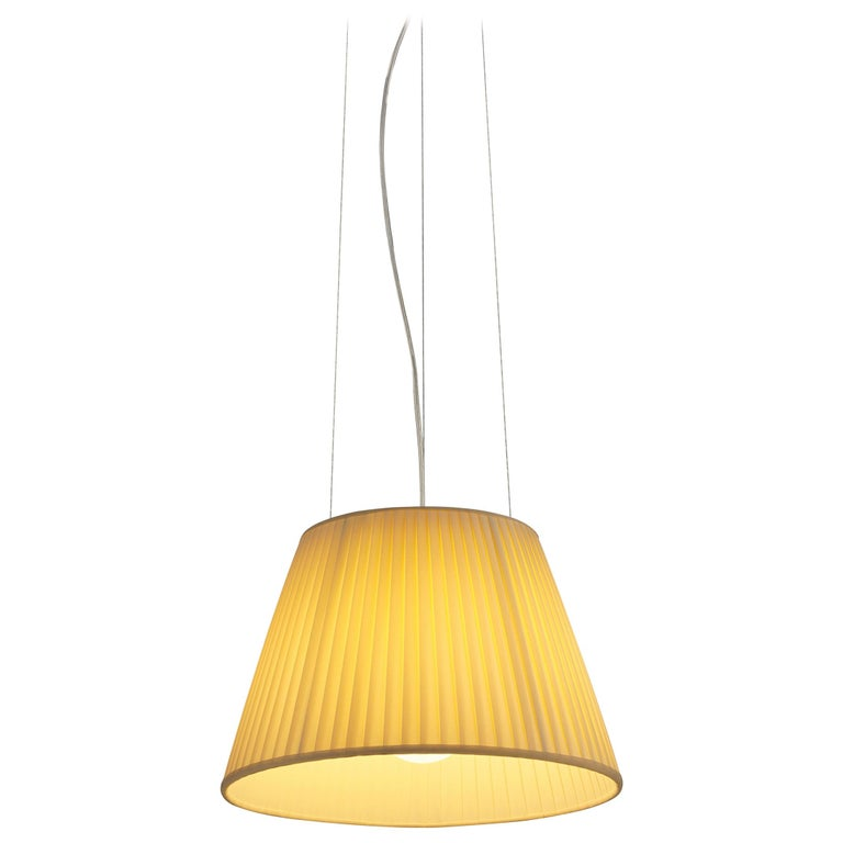 Flos Romeo Soft S1 Fluorescent Pendant Light By Philippe Starck For