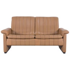 De Sede DS Designer Leather Sofa Cognac Brown Two-Seat