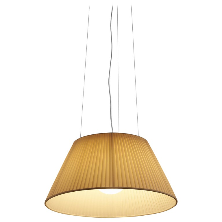 Flos Romeo Soft S2 Fluorescent Pendant Light By Philippe Starck For