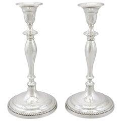 Georgian Sterling Silver Candlesticks 1796
