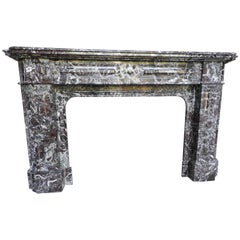 Belgian Marble Early 20th Century Fireplace Mantle