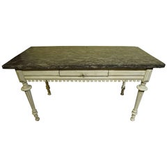 19th Century Marble-Top Serving Table