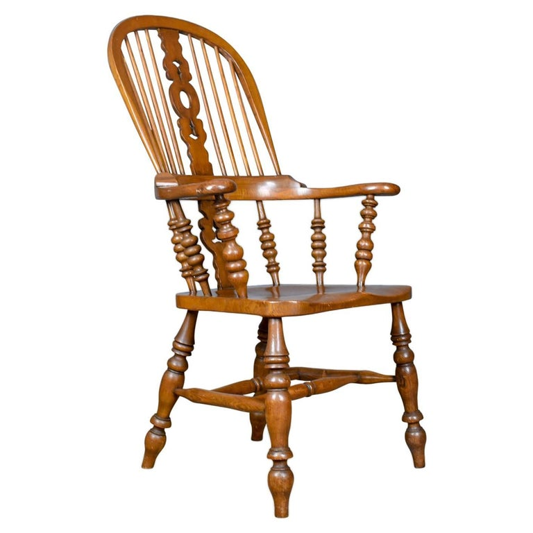 Antique Windsor Armchair, Victorian, Yorkshire Broad Arm Elbow Chair, circa  1900 For Sale - Antique Windsor Armchair, Victorian, Yorkshire Broad Arm Elbow Chair