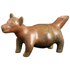 Pre-Columbian Figure of a Standing Dog, Colima Protoclassic, 100 BC-250 AD