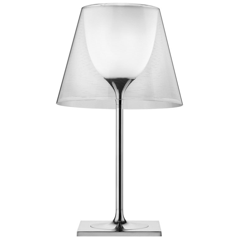 FLOS Ktribe T2 Transparent Halogen Table Lamp by Philippe Starck