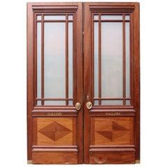 Pair of 1930s English Glazed Gallery Doors