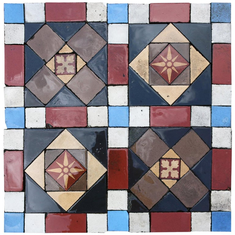 Minton Encaustic And Geometric Floor Tiles 14 M2 At 1stdibs