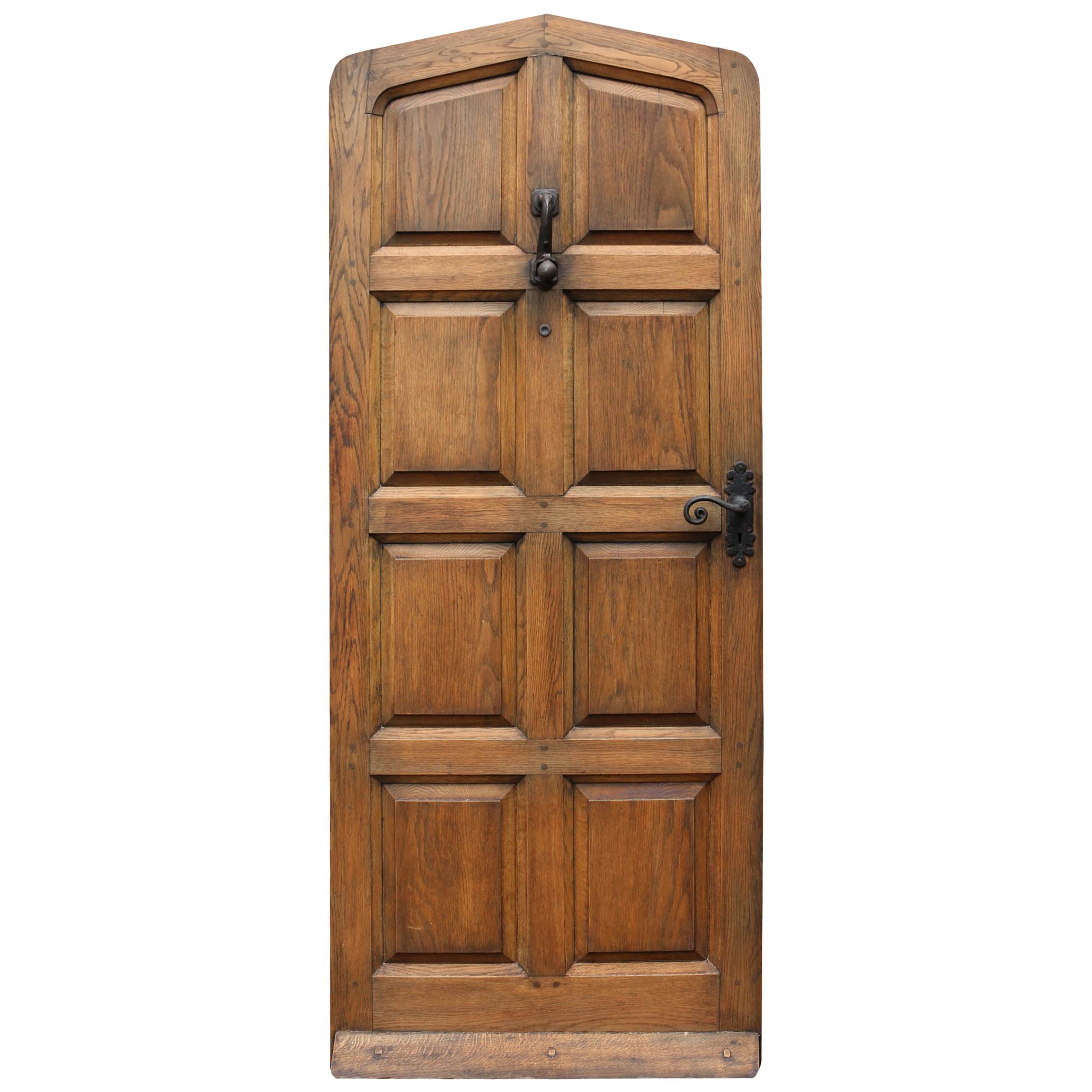 Genial 1930s Arched Oak Exterior Door For Sale