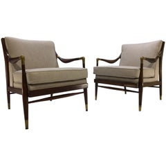 Pair of Jamestown Royal Sculptural Open Armchairs in the Manner of Gio Ponti