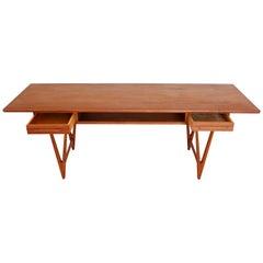 Midcentury Teak Coffee Table by E. W. Bach for Toften Møbelfabrik