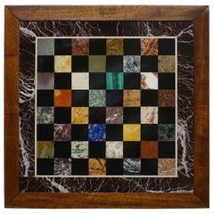 Italian Marble Specimen Chess Board