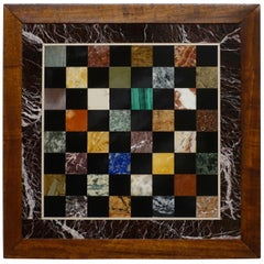 Italian Marble Specimen Chess Board, Early 20th Century