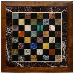 Italian Marble Specimen Chess Board, Early 20th Century