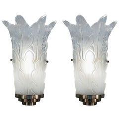 Pair of 1970s Murano Glass Wall Sconces