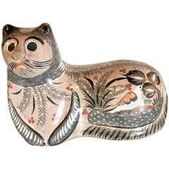 Very Large Example of a Tonala Cat, Artist Signed