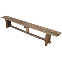 Antique French Farm Table Bench