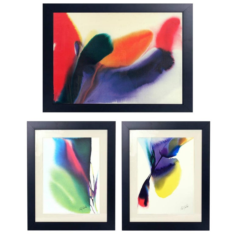 Abstract Color Lithographs by Paul Jenkins