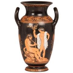 Antique English Attic Red Figure Greek Vase, England, circa 1890