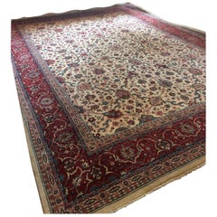 Sumptuous Large Isfahan Pakistani Rug in Jewel Tones