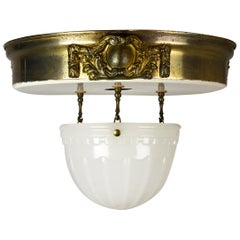 Brascolite Flush Mount with Hanging Bowl