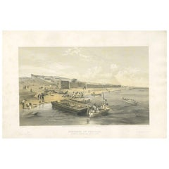 Antique Print of the Fortress of Yenikale 'Crimean War' by W. Simpson, 1855
