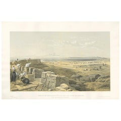 Antique Print of the Straits of Yenikale 'Crimean War' by W. Simpson, 1855