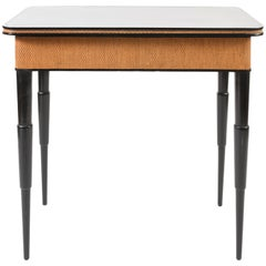 Ebonised Writing Table 'or Dressing Table', Italian 1950s