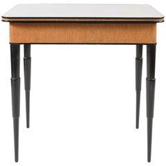 Ebonised Writing Table 'or Dressing Table', Italian 1950s