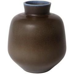 Berndt Friberg Unique Stoneware Vase for Gustavsberg, 1965