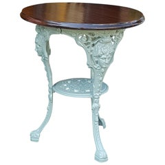 Late Victorian Cast Iron Garden Table