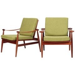 "Finn Juhl ""Spade"" Lounge Chairs France & Daverkosen, 1960s"