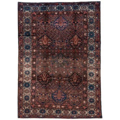 Antique Shabby Chic Baktiary Carpet