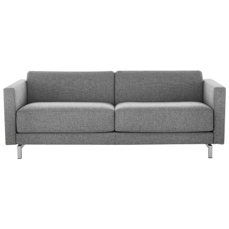 Baleri Italia Norman Two-Seat Sofa in Grey Fabric by Hannes Wettstein