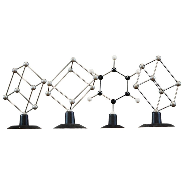 Collection of Four Educational Atom Models