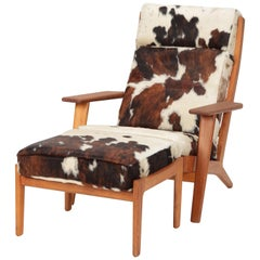 Hans J. Wegner GE-290 Lounge Chair GETAMA 1960s